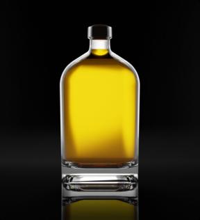 Premium tequila bottle
