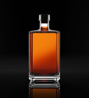 Premium whiskey bottle